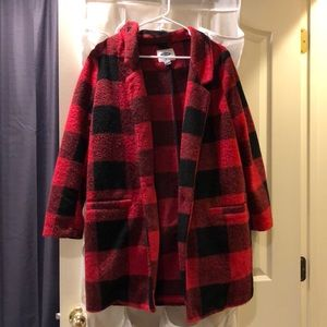 Old Navy Red and Black Plaid Coat